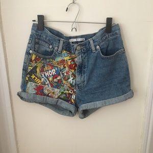 Custom made #highwaisted #avenger shorts!